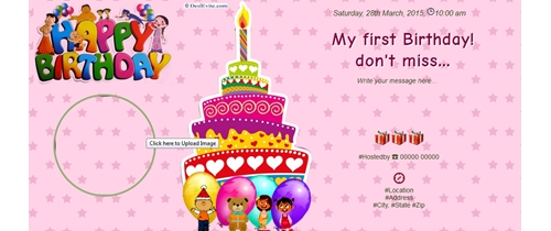 1st Birthday Invitation Card In Marathi Jaunimas Net