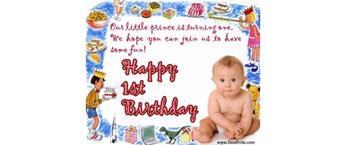 Our littel prince is turning 1st please joun us party to night
