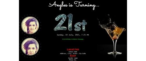 Free 21st birthday party invitation card online invitations invitation with image 21th birthday party invitation girl stopboris Image collections
