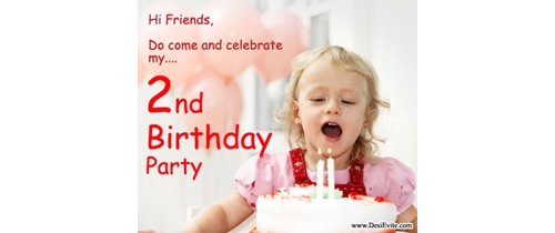 Do come and celebrate my 2nd Birthday party