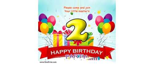 Come and join your little master's 2nd Birthday