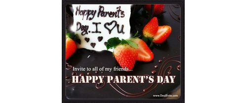 invite to all my friends on our Parents Day party