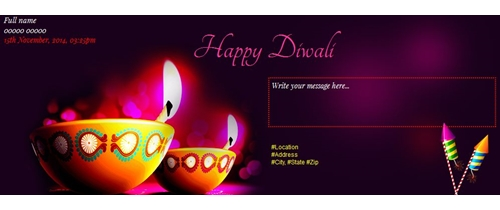Celebrate Diwali  and invite to your friends and family
