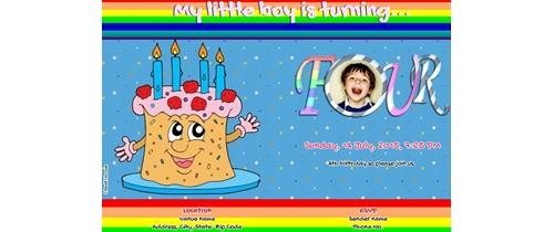 4th Birthday Invitation- Boy
