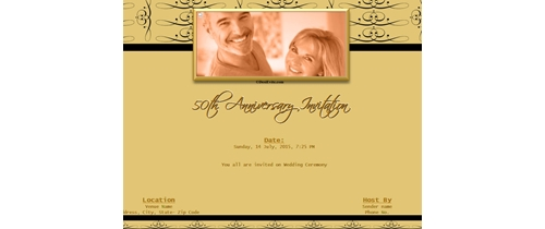 Free 50th wedding anniversary invitation card online invitations invitation with image we request the pleasure of your company on my 50th anniversary stopboris Image collections