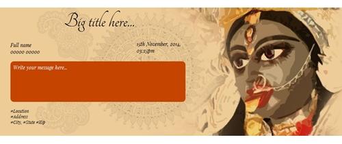 Free kali puja invitation card online invitations invite on kaali puja spiritdancerdesigns Image collections