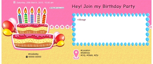 Free birthday party invitation card online invitations join my birthday party stopboris Images