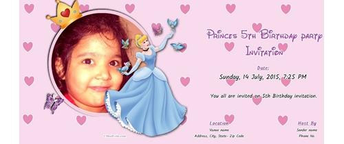 5th birthday Invitation