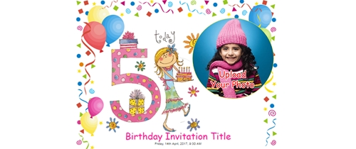 Free Th Birthday Party Invitation Card Online Invitations - Editable birthday invitation cards in marathi