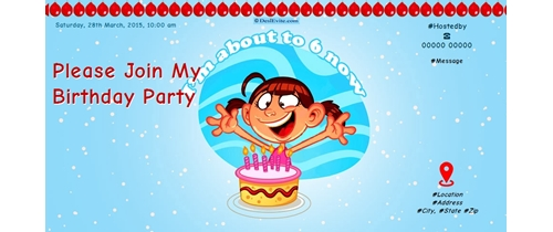 Please Join My 6th Birthday Party
