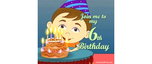 Join me to my 6th Birthday party