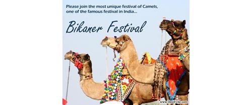 Please join the unique Festival of Bikaner