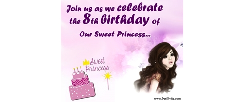 Join us as we celebrate the 8th Birthday of our sweet Princess