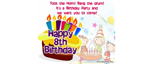 Toot the Horn! bang the drum! its a birthday party