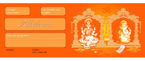Invite on Dhanteras festival