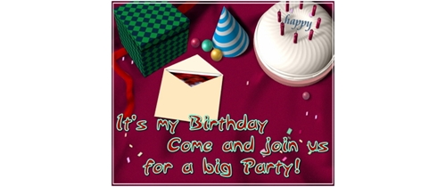 It's my Birthday come and  join us  for  a big Party