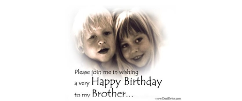 Brother Birthday Party Invitation