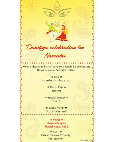 Dandiya celebration for Navratri