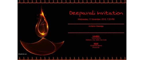 Deepavali Invitation