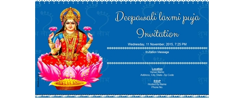 Deepawali and laxmi puja Invitation