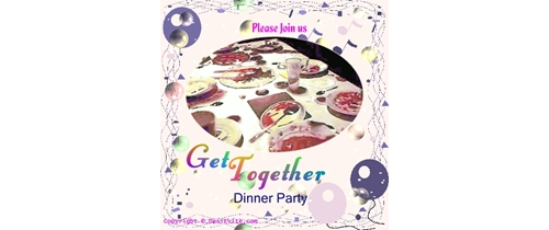 Get together Dinner Party Invitation