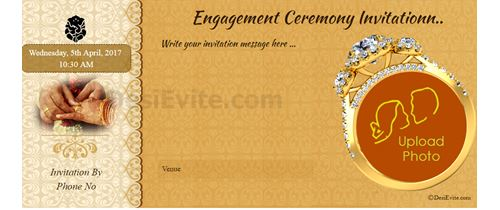 Hindu engagement card