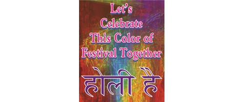 Let's celebrate this color of festival toghter in this holi