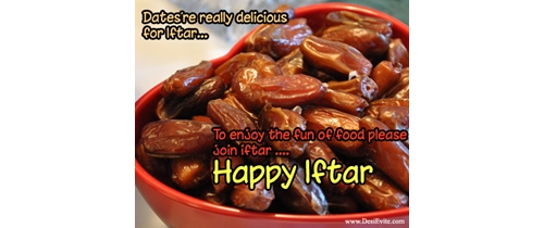 Dates are really delicious for Iftar Invitation