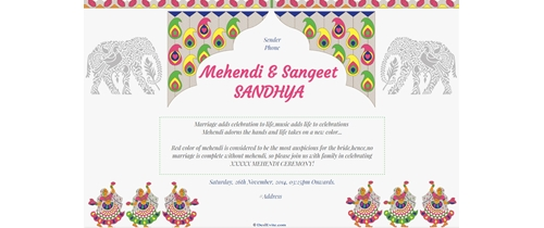 Mehendi and Sangeet SANDHYA