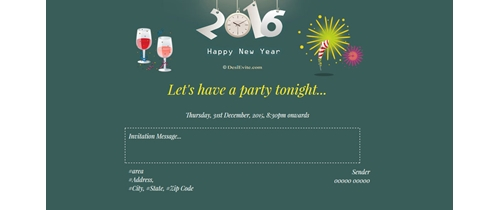 Llet's have a party tonight it's  New Year
