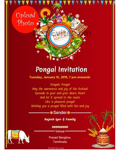 Pongal-Invitation-Card-With-Photo