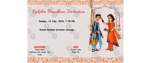 Raksha Bandhan Invitation