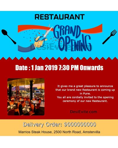 Restaurant-Opening-Invitation-Card