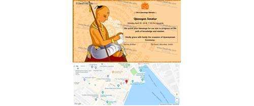 Thread Ceremony / janeu / upanayanam sanskar / marathi(munj)