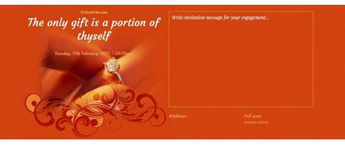 engagement creation card