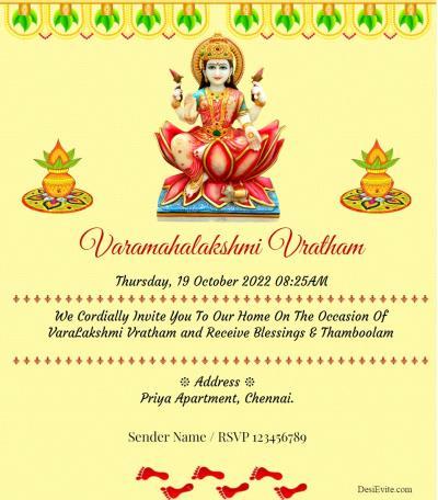 Varamahalakshmi Vratham