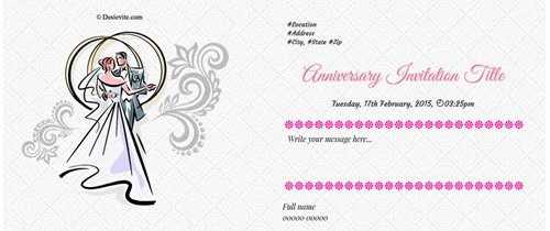 Invite to all of my friends Happy Anniversary theme angel blessing