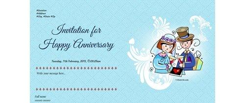 Invite to all of Happy Anniversary theme boquet of roses