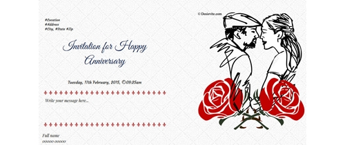 In marriage love is start of it Wedding Anniversary Invitation