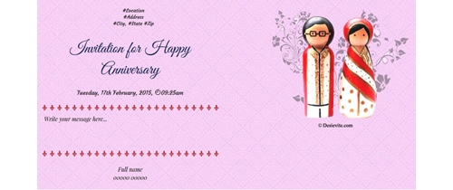 Love is divine Happy Anniversary Invitation