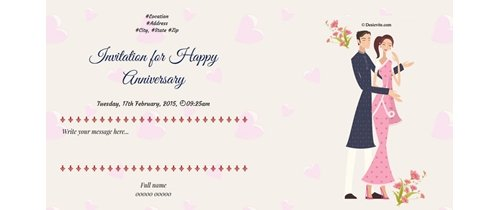 Free 10th Wedding Anniversary Invitation Card Online