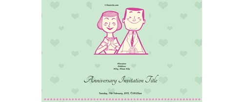 Happy 25th Wedding Anniversary Invitation