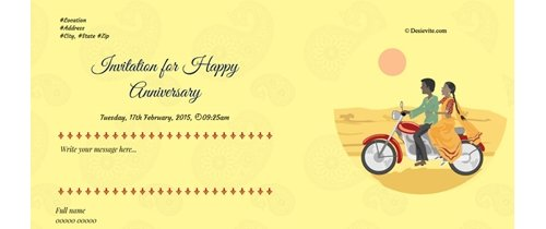 Invitation for ...th Anniversary