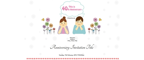 Invite to all of my friends Happy Anniversary