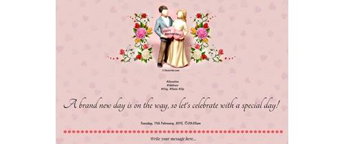 Happy Anniversary Invitaion for all..