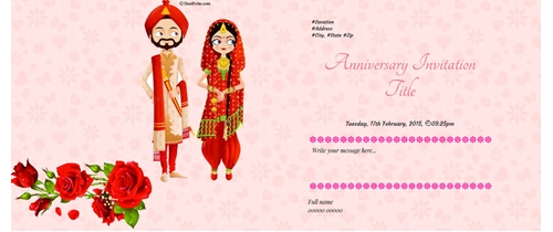 Free 25th Wedding Anniversary Invitation Card Online