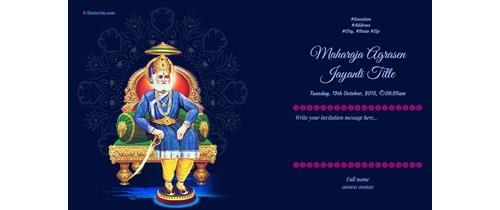Lets celebrate Maharaja Agrasen Jayanti