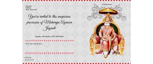 Happy Maharaja Agrasen Jayanti, 2015