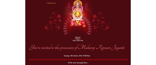 Let's join this procession to celebrate Maharaj Agrasen Jayanti