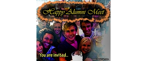 you are invited on Alumni Meet party tonight
